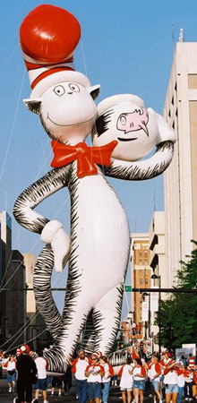 Cat in the Hat 50' Helium Parade Balloon